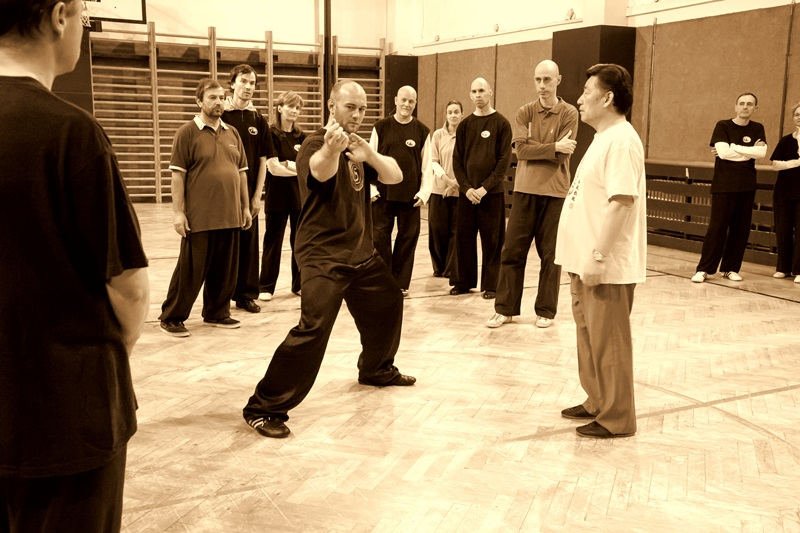 Chen Xiaowang učí Taiji v Praze