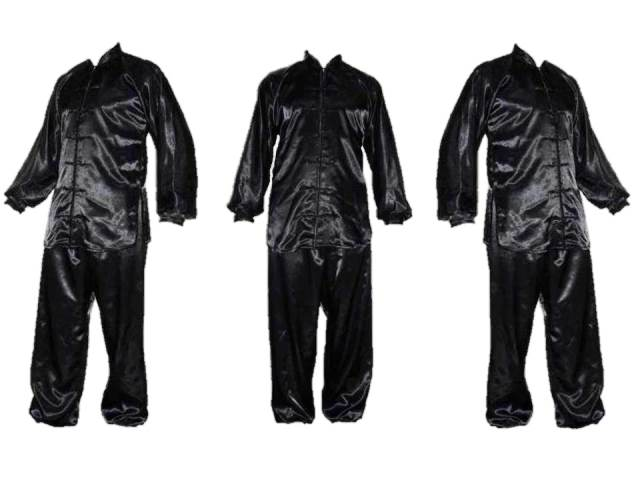 Tchaj-ťi uniformy a obleky ze saténu