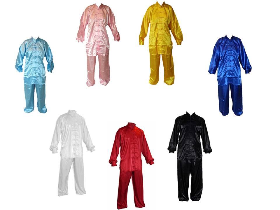 Barevné tchaj-ťi obleky a uniformy